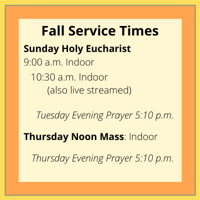 Fall Times of Holy Eucharist 20